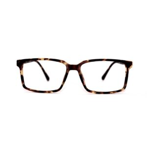 Hamilton eyeglass frame in tortoise. Classic large rectangular shape.