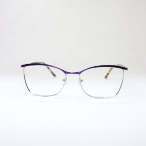 Purple and silver metal, lightweight glasses for women