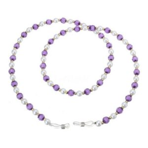 bead glasses chain purple