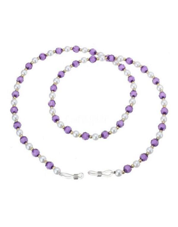 bead glasses chain purple