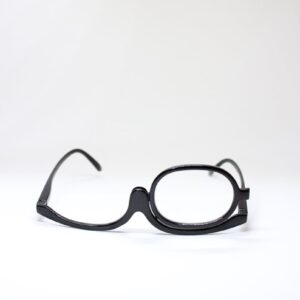 Make Up Glasses black frame with rotating lens